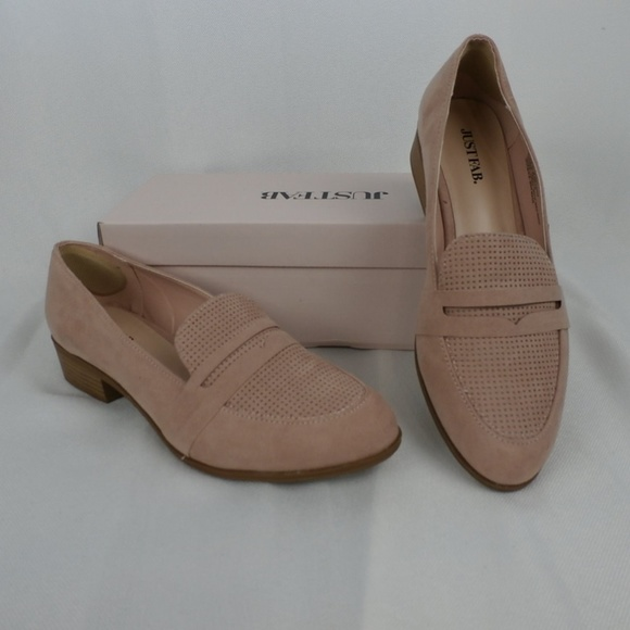 1997133b6cf Blush suede look block heel loafers